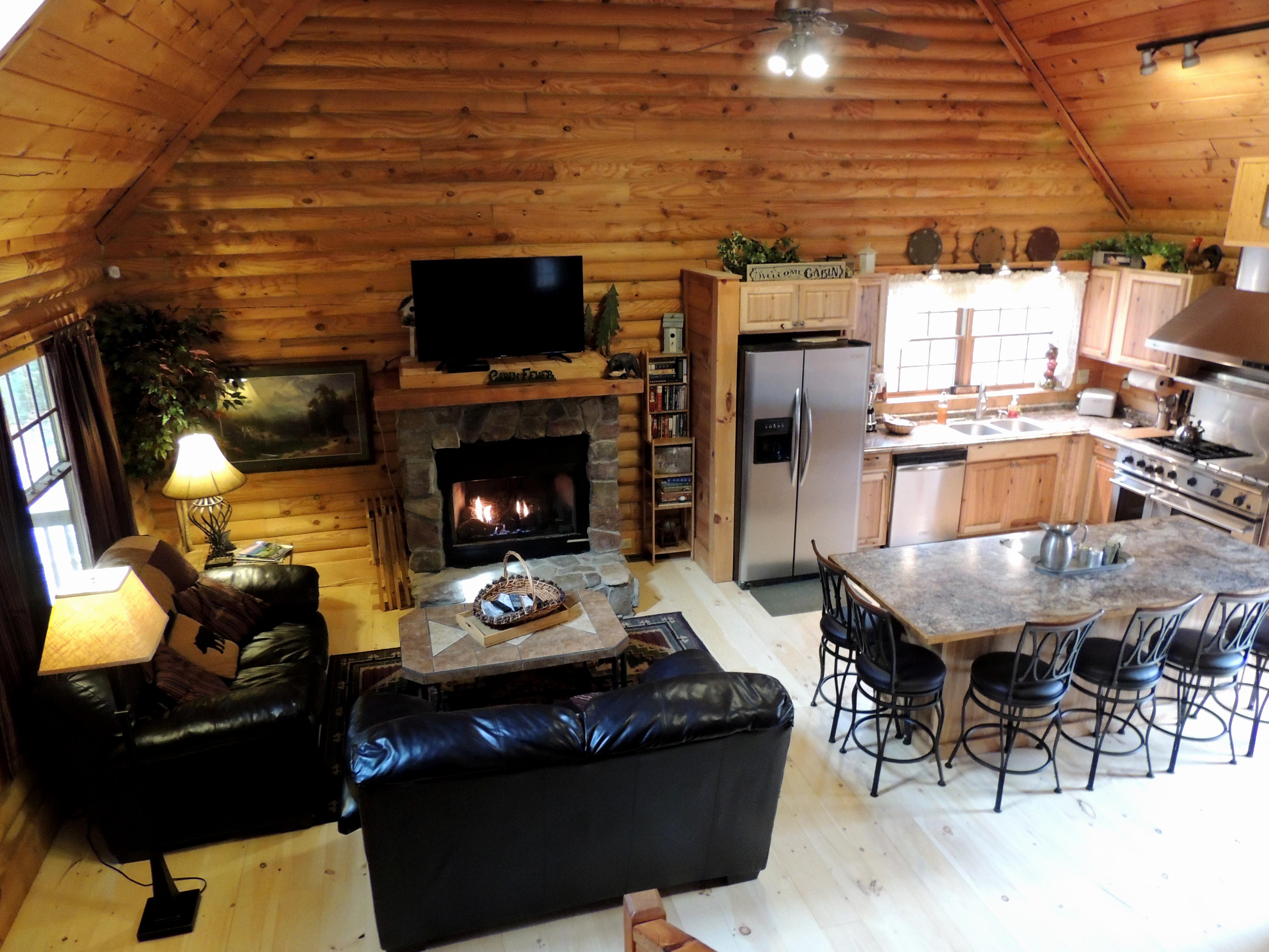restaurant rock bentwood chimney the unique great room inn a rustic cabins esmeralda