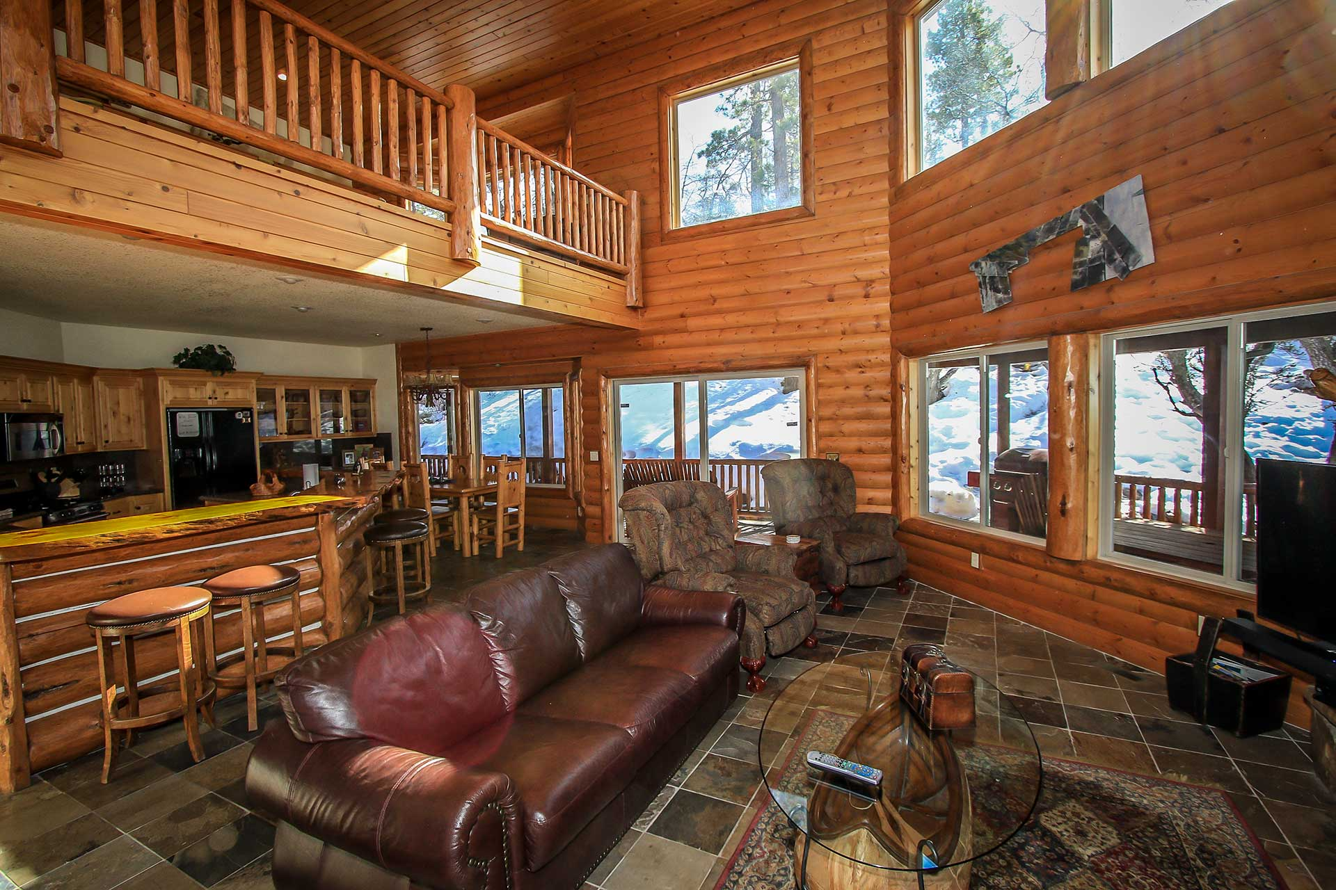 redawning rentals original home cabins bear vacation rental in big property cabin lake luxury log