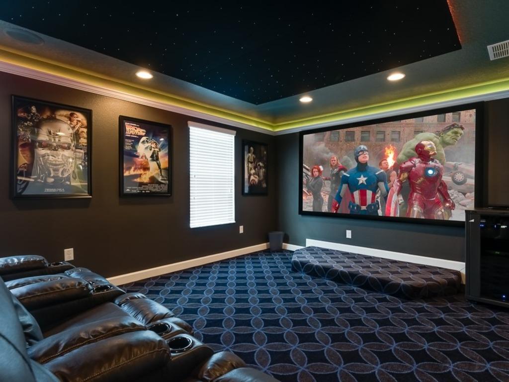 Luxury Movie Theater Room Pool Spa Amp Game Room Ra337586 Redawning