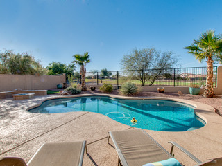 Sparkling Heated Pool with Golf Views in Johnson Ranch 4 Bed, One Down