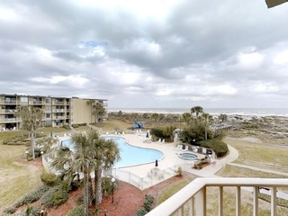 Watch the Sunrise from this 3 bedroom ocean view condo in gated complex with 2 pools (1 heated)