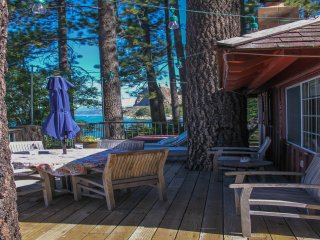 A part of Tahoe History, Original Lake Front Red Cabin (ZC1298)