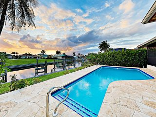 New Listing! Canal-Side Home w/ Pool & Boat Dock