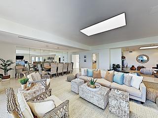 New Listing! Palatial Beachfront Estate w/ Casita