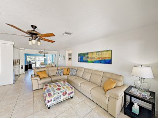 New Listing! Renovated Canal-Side Home Near Beach