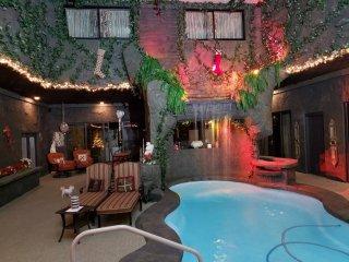 Heated Indoor Swimming Pool + Waterfall!