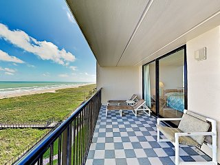 New Listing! Shorefront Sensation w/ Pool, Balcony