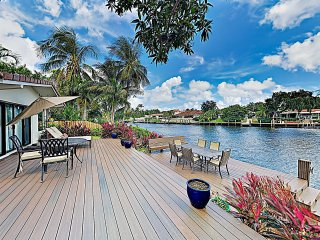 Luxe Waterfront Home: Pool, Boat Dock, Near Beach