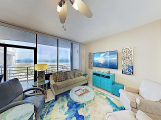 Sophisticated Gulf-View Condo w/ Balconies & Pool